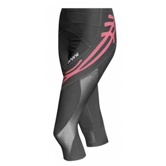 COOLMAX Compression Capri Tight Black - Kompressziós Háromnegyedes Nadrág Pink