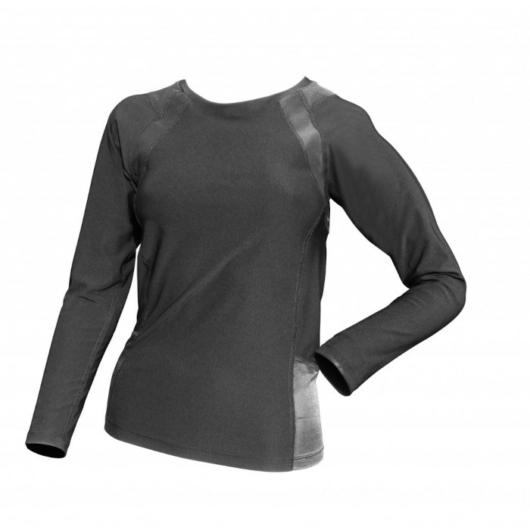 BodyVine COOLMAX Compression Long Sleeve Black - Kompressziós Hosszú ujjú Felső Fekete