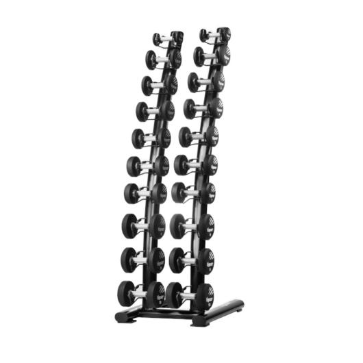 Tiguar Chrome/PU dumbbell rack - Kézi súlyzó állvány 1-10 kg