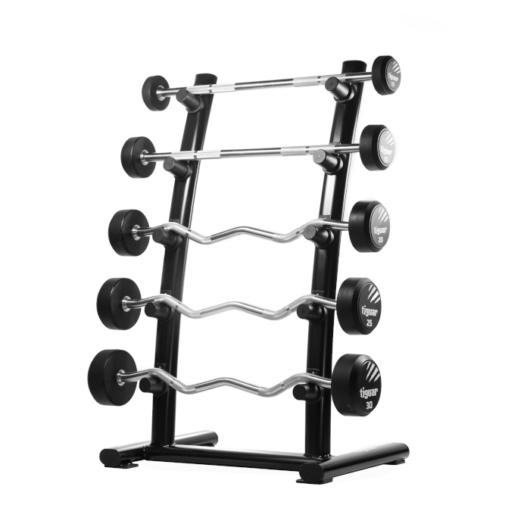Tiguar Half Barbell Rack - Kétkezes súlyzó tartó állvány 1 oldalas 5 polcos